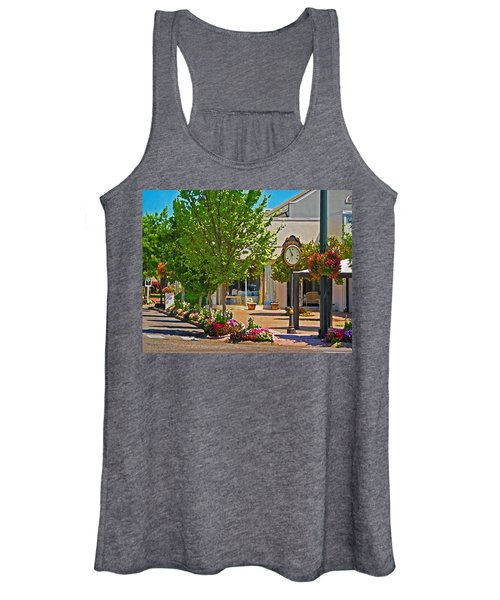 Fairhope Ave With Clock Looking North Up Section Street Women's Tank Top