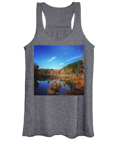 Fall At The Pond Women's Tank Top