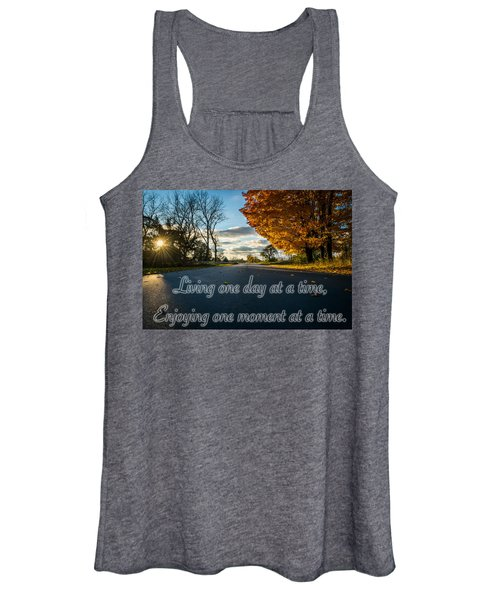 Fall Day With Saying Women's Tank Top