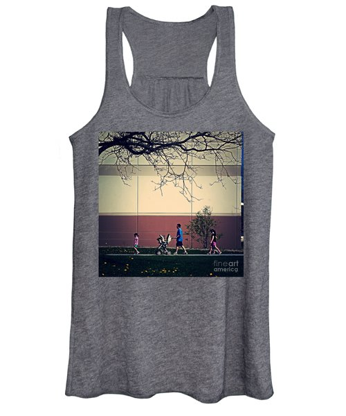 Family Walk To The Park Women's Tank Top