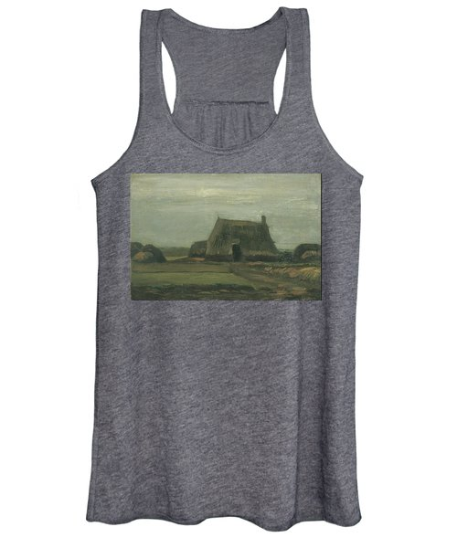 Farm With Stacks Of Peat November 1883 - 1883 Women's Tank Top