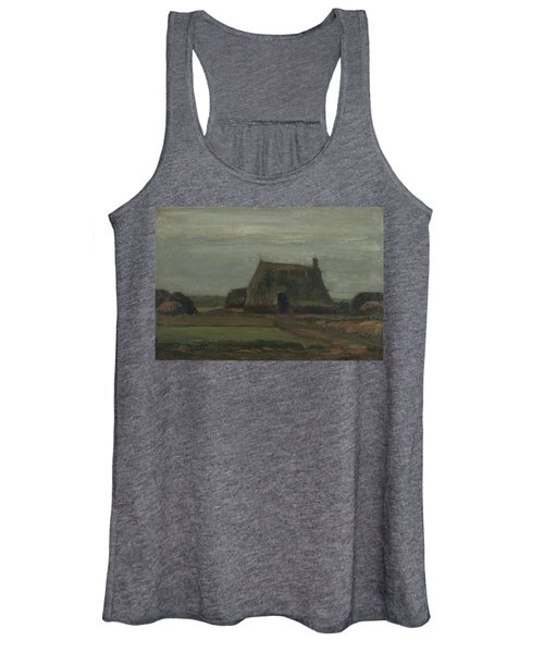 Farmhouse With Peat Stacks, 1883 Women's Tank Top
