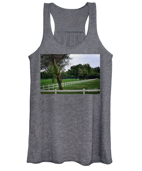 Fence On The Wooded Green Women's Tank Top