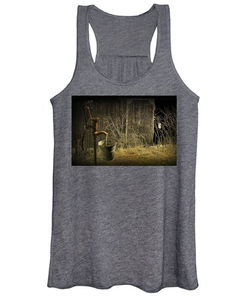 Fetching Water From The Old Pump Women's Tank Top