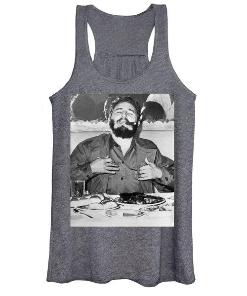 Fidel Castro In New York Women's Tank Top