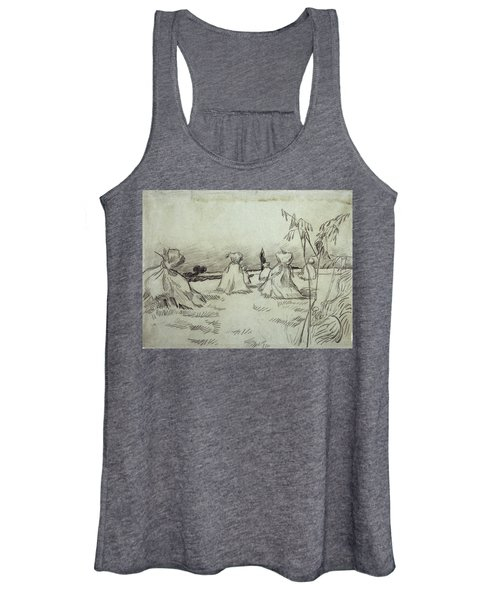 Field With Sheaves Of Wheat, 1890 Women's Tank Top