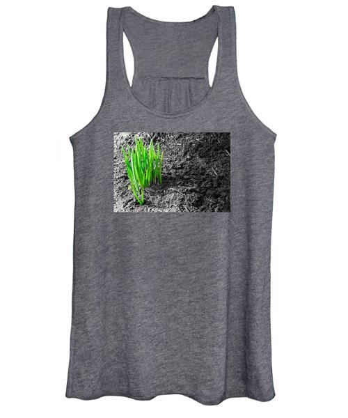 First Green Shoots Of Spring And Dirt Women's Tank Top