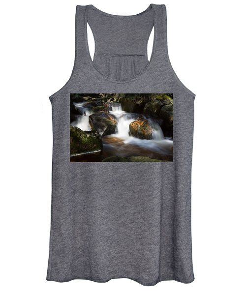 first spring sunlight on the Warme Bode, Harz Women's Tank Top