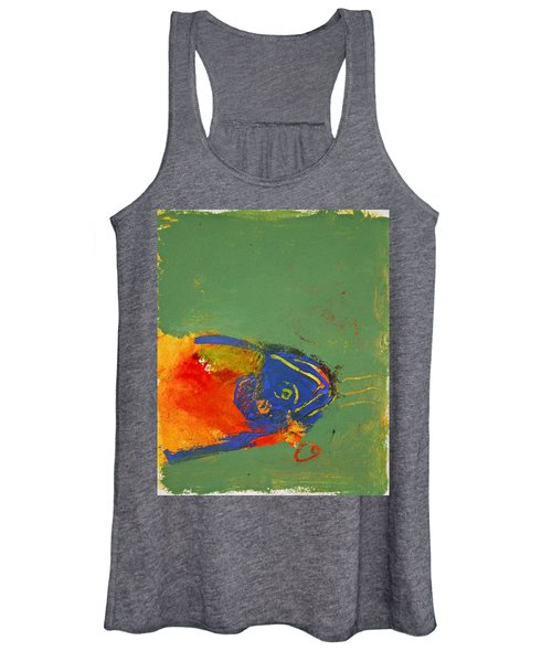 Fish Pondering The Anomaly Of Mans Anamnesis Women's Tank Top