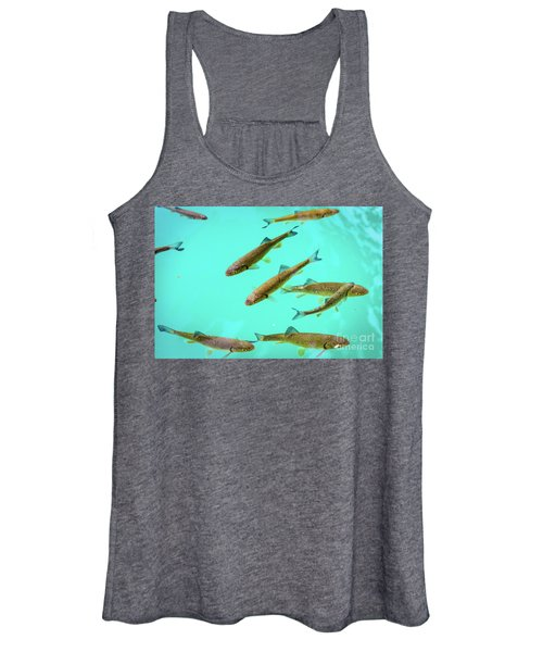 Fish School In Turquoise Lake - Plitvice Lakes National Park, Croatia Women's Tank Top