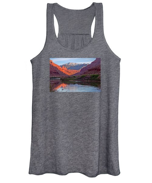Fisher Towers Sunset Reflection Women's Tank Top
