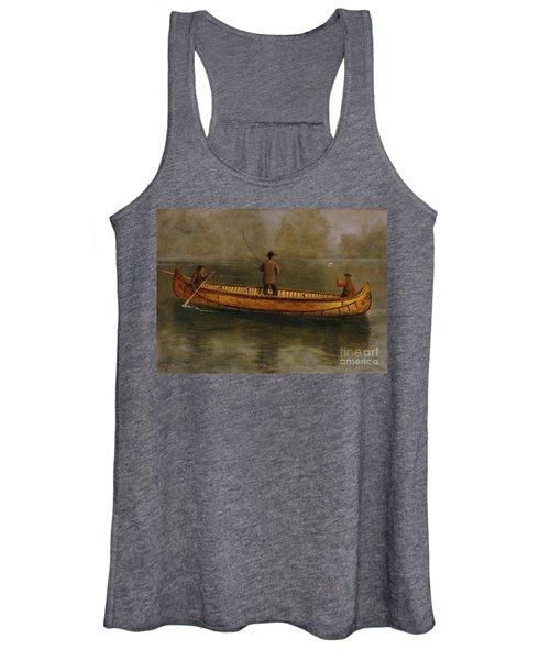 Fishing From A Canoe Women's Tank Top