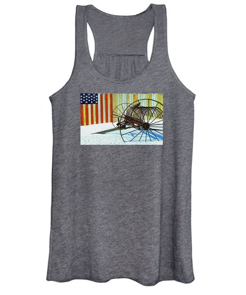 Flag And The Wheel Women's Tank Top