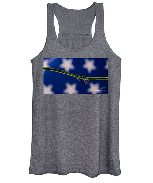 flag on a Wire Women's Tank Top
