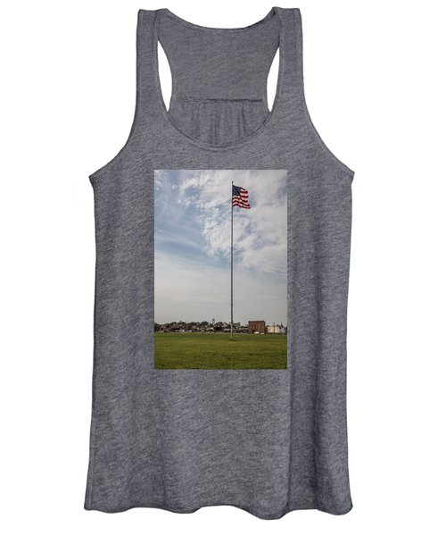 Flag Poll At Detroit Tiger Stadium  Women's Tank Top