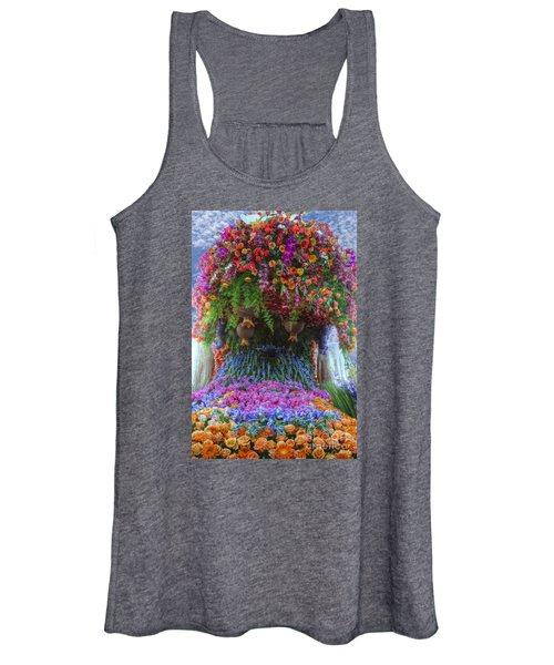 Flower Wave Women's Tank Top