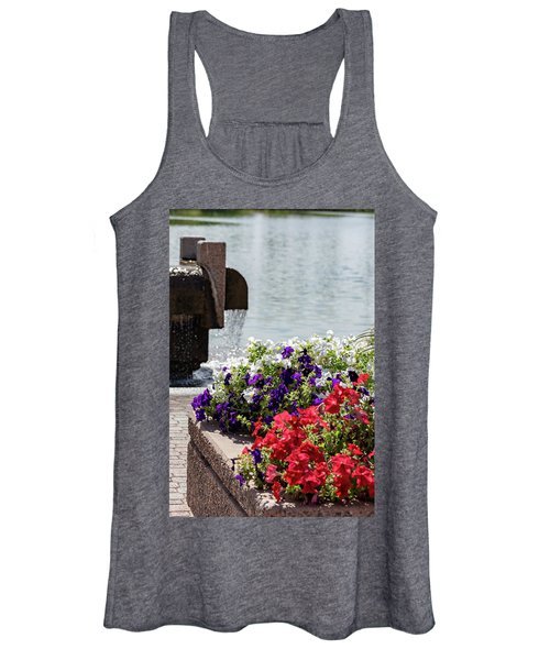 Flowers And Water Women's Tank Top