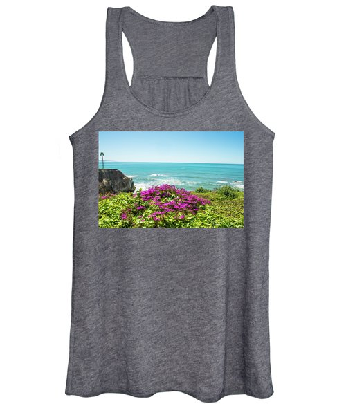 Flowers On The Cliff Women's Tank Top