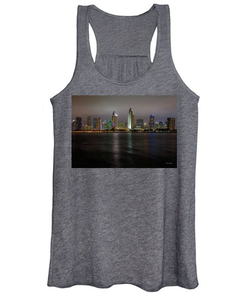Fog Glow Over San Diego Women's Tank Top