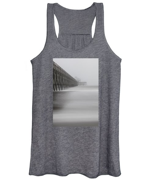 Foggy Folly Beach Pier Women's Tank Top