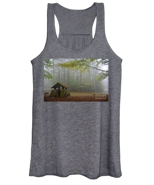 Foggy Morning At Droop Mountain Women's Tank Top