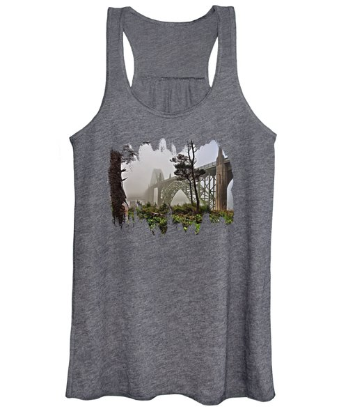 A Foggy Morning On Yaquina Bay Women's Tank Top