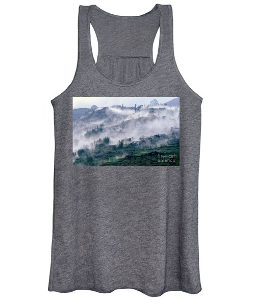 Foggy Mountain Of Sa Pa In Vietnam Women's Tank Top
