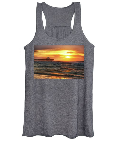 Folly Beach Pier Sunrise Women's Tank Top