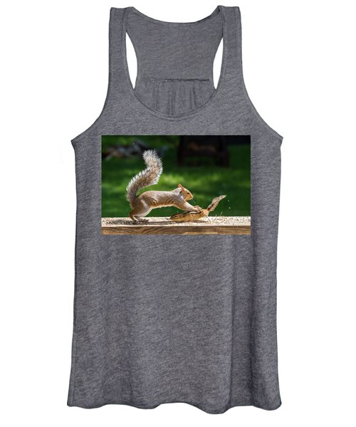 Food Fight Squirrel And Chipmunk Women's Tank Top