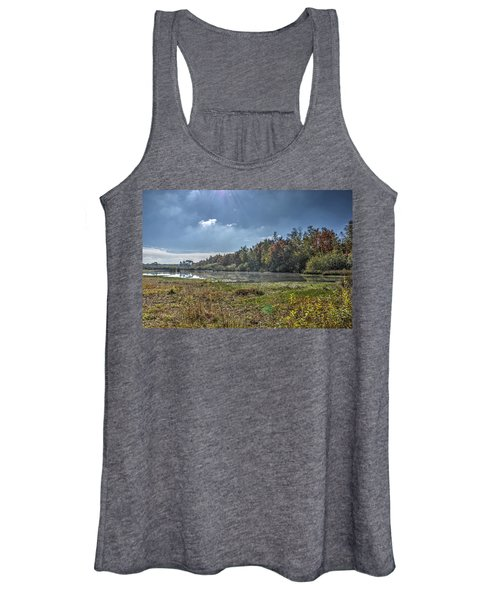 Forest Lake In Autumn Women's Tank Top