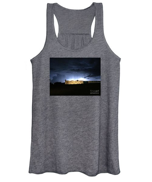 Lightening At Castillo De San Marco Women's Tank Top