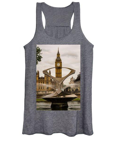 Fountain With Big Ben Women's Tank Top