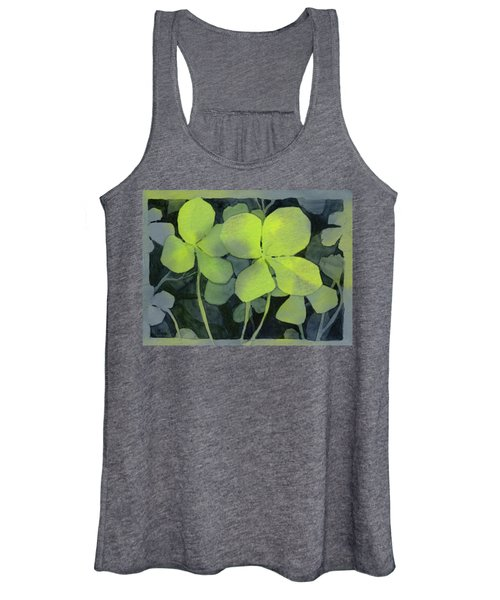 Four Leaf Clover Watercolor Women's Tank Top