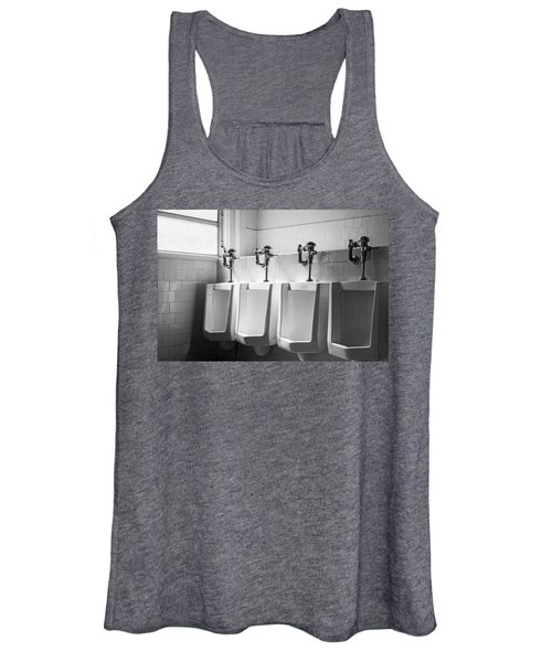 Four Urinals In A Row Bw Women's Tank Top