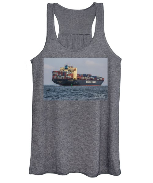 Freighter Headed Out To Sea Women's Tank Top