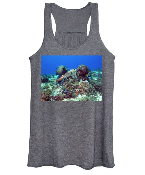 French Angelfish And The Green Turtle Women's Tank Top