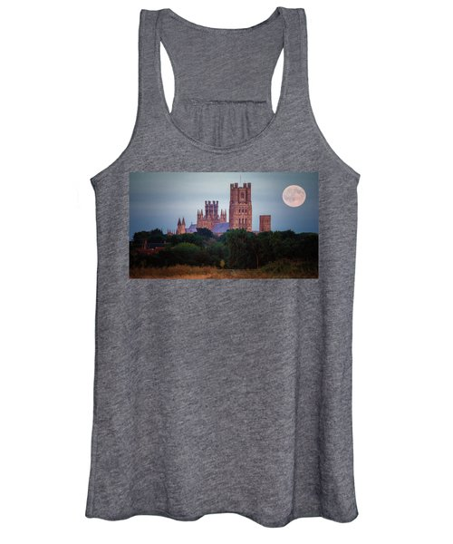 Full Moon Over Ely Cathedral Women's Tank Top