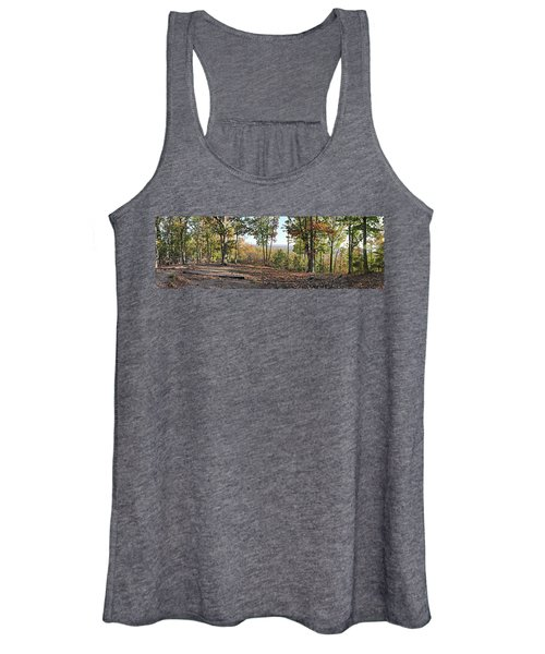 Full Panoramic View From The Summit Of Brown's Mountain Trail Women's Tank Top