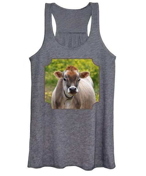 Funny Jersey Cow - Horizontal Women's Tank Top