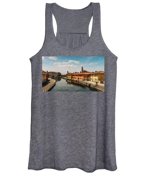 Gaggiano On The Naviglio Grande Canal, Italy Women's Tank Top