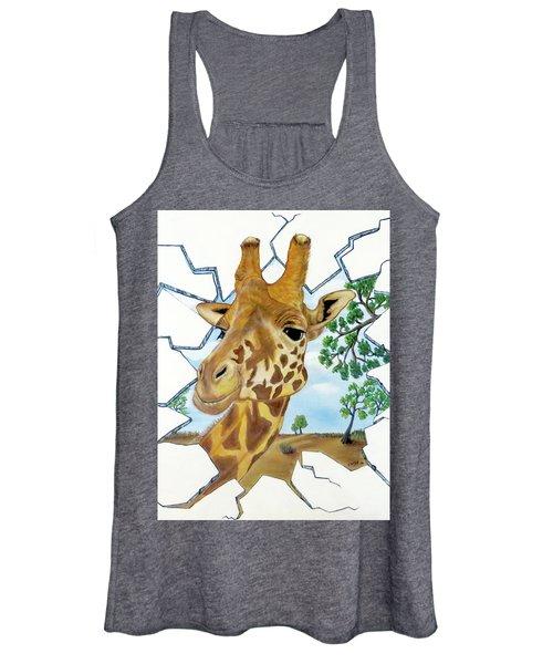 Gazing Giraffe Women's Tank Top