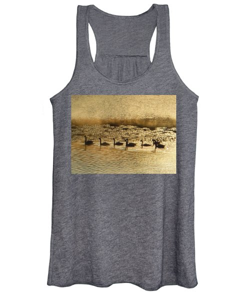Geese On Golden Pond Women's Tank Top