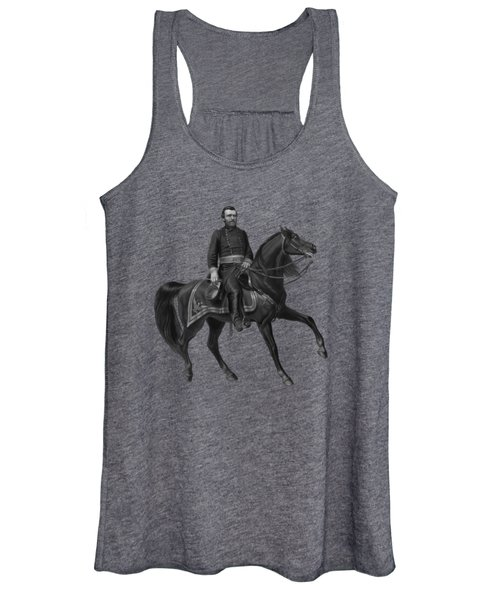 General Grant On Horseback  Women's Tank Top