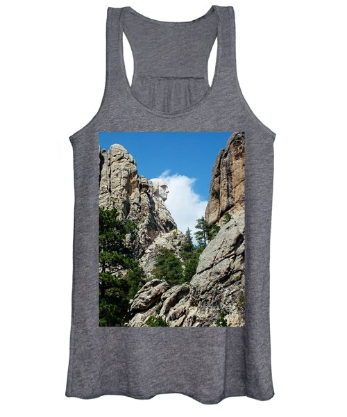 George Washinton Profile - Mount Rushmore South Dakota Women's Tank Top