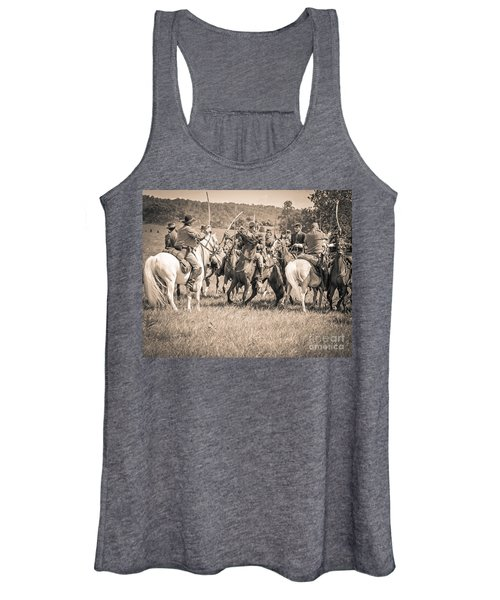 Gettysburg Cavalry Battle 7970s  Women's Tank Top