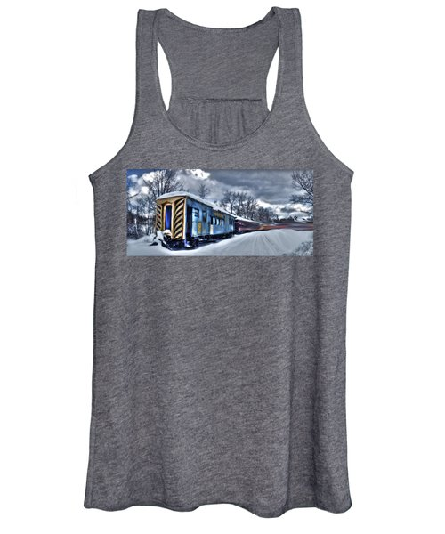 Ghost Train In An Existential Storm Women's Tank Top