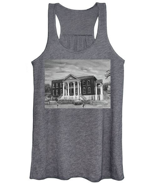 Gilmer County Old Courthouse - Black And White Women's Tank Top