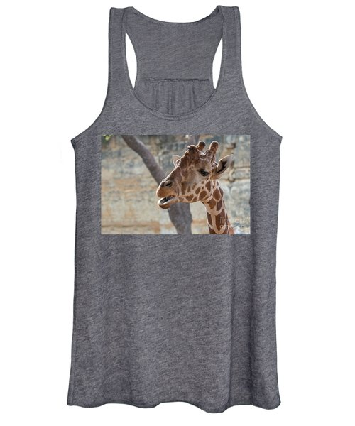 Girafe Head About To Grab Food Women's Tank Top