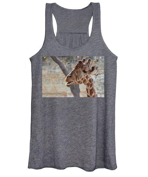 Girafe Head About To Grab Food Women's Tank Top
