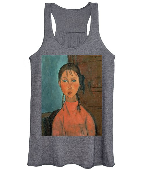 Girl With Pigtails Women's Tank Top